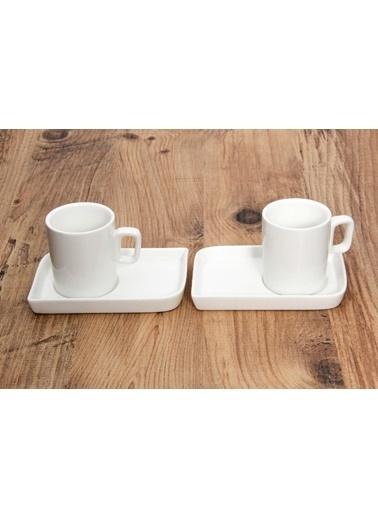Herevin İkili Porselen Kahve Fincanı Seti Renkli